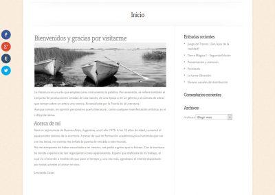 Sitio Web Leonardo Casas