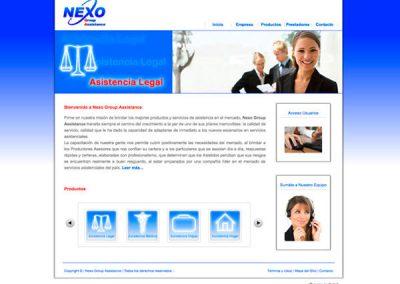 Sitio Web Nexoga
