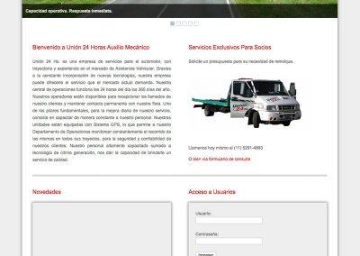 Sito Web Unión 24 Horas S.A.