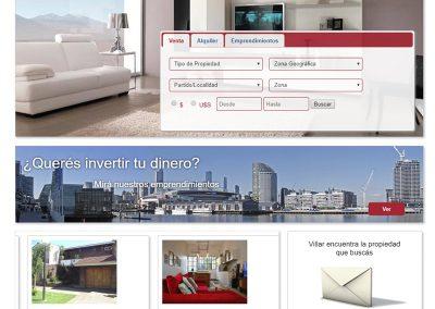 Sitio Web Inmobiliaria Villar